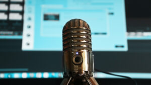 Podcasts over video en motion graphics